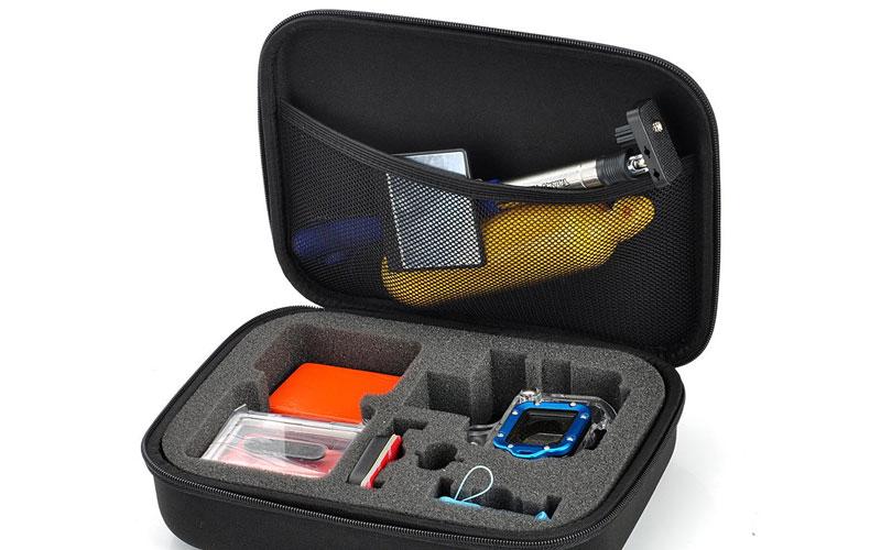 Túi đựng với từng phần cố định, giúp GoPro luôn được bảo vệ vững chắc