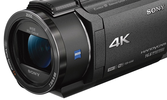 Máy quay phim Sony KTS FDR-AX40 ống kính ZEISS™ zoom 20x