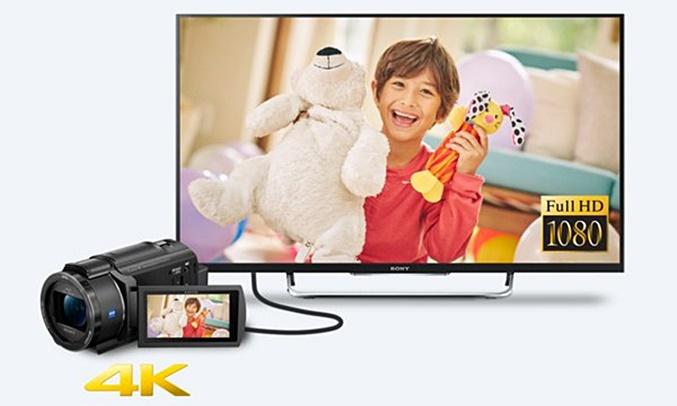 Máy quay phim Sony KTS FDR-AX40 hình ảnh 4K và HD tốc độ bit cao