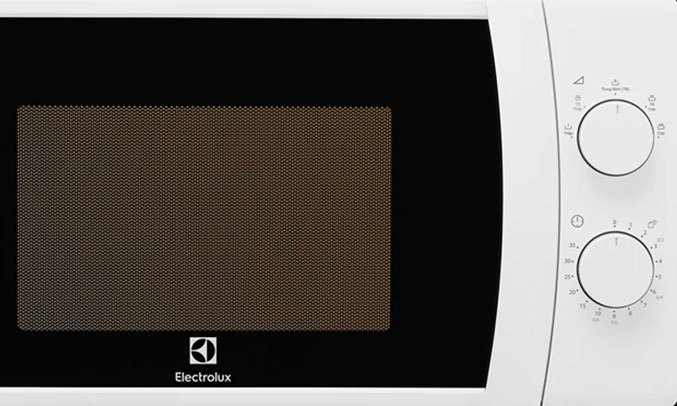 Lò vi sóng Electrolux 20 lít EMM20K18GWI bảng điều khiển dễ dàng sử dụng