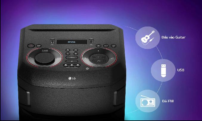Loa Karaoke LG Xboom RN7.DVNMLLK - Kết nối đa dạng