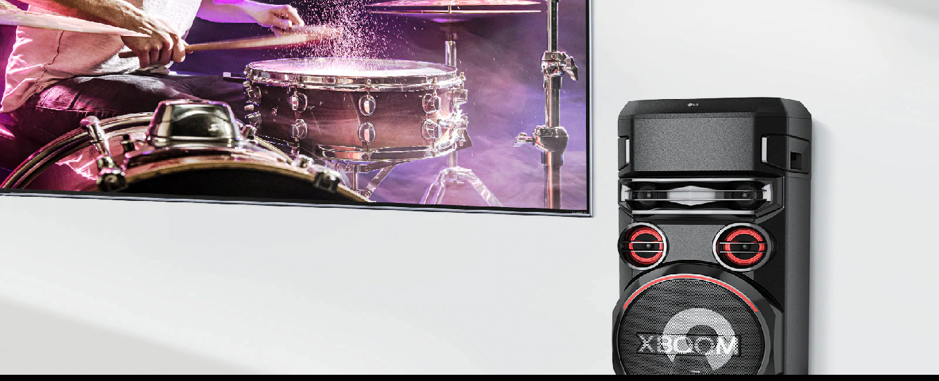 Loa Karaoke LG Xboom RN7.DVNMLLK - Thiết kế trẻ trung, hiện đại, phù hợp với nhiều không gian nội thất