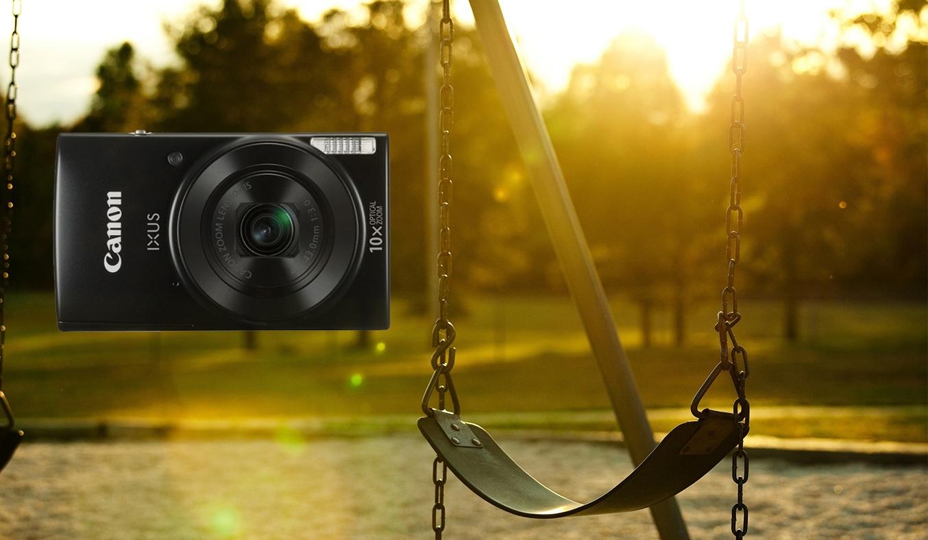 Máy ảnh Canon IXUS 190 màu đen sở hữu màu đen cá tính