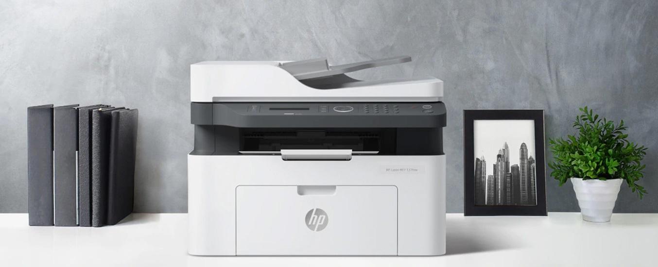 Máy in đa năng HP Laser MFP 137fnw 4ZB84A Thiết kế vừa vặn mọi không gian
