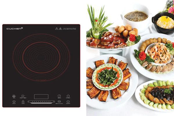 Thời gian nấu nướng của bạn sẽ được rút ngắn đáng kể nếu sử dụng bếp hồng ngoại Cuchen đấy!