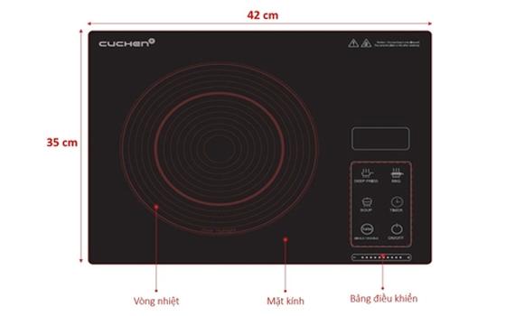 Bếp hồng ngoạiCuchen CHR-F160VN điều khiển cảm ứng dễ sử dụng