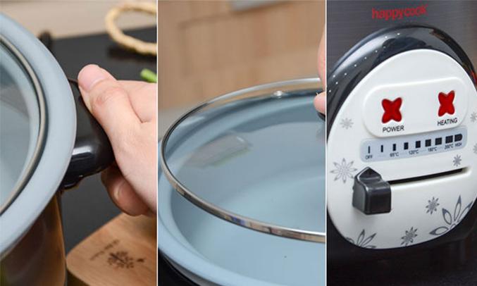 Lẩu điện Happy Cook HCHP-300A có dung tích 2.8 lít
