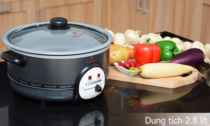 Lẩu điện Happy Cook HCHP-300A có thiết kế tiện dụng