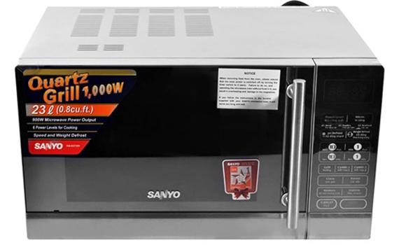Lò vi sóng Sanyo EM-G3730V đẹp mắt, tinh tế