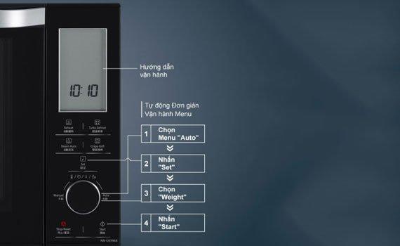Lò vi sóng Panasonic NN-DS596BYUE dễ sử dụng