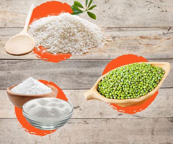 Món xôi vò được tạo thành bởi những loại nguyên liệu đơn giản và dễ tìm