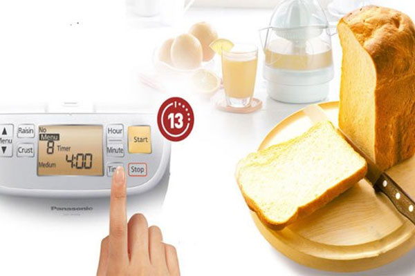Chức năng hẹn giờ của máy làm bánh mì sẽ giúp buổi sáng của bạn nhàn hạ hơn