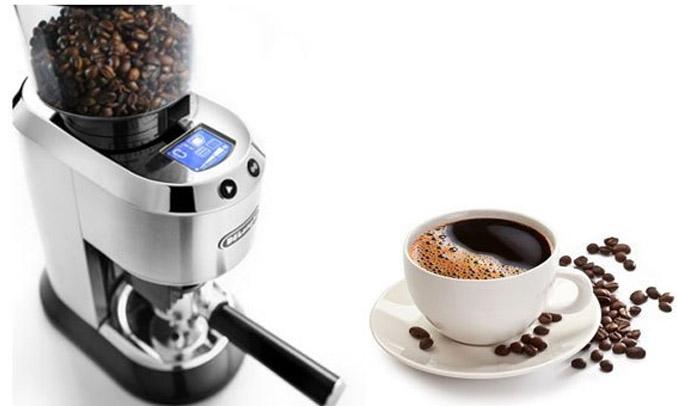 Máy xay cà phê Delonghi KG521.M ngăn chứa tháo rời