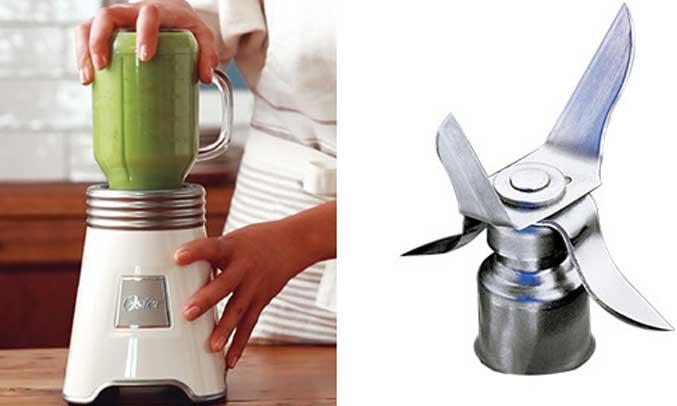 Máy xay sinh tố Oster được thiết kế lưỡi dao cực kì bền bỉ với 4 cạnh bằng thép không gỉ