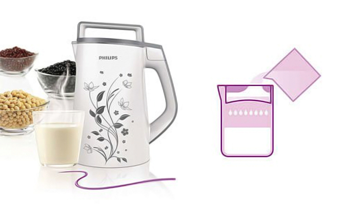 Máy làm sữa đậu nành Philips HD2072/02 có lưới lọc cặn