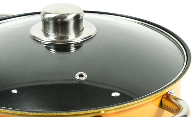 Bộ nồi Goldsun GE31-3306SG (YO) nắp nồi bằng kính
