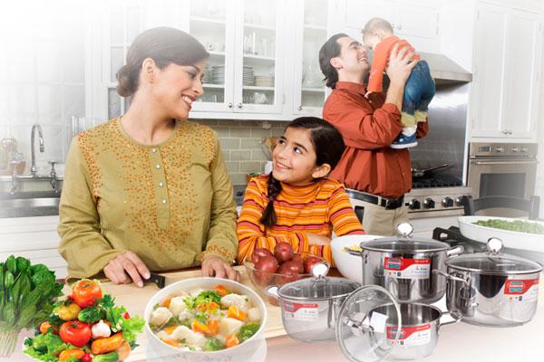 Mang đến cho gia đình những bữa ăn ngon với bộ nồi inox 3 đáy Sunhouse