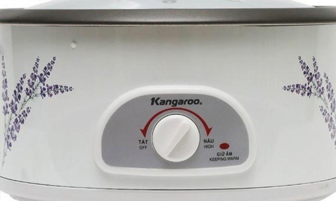 Lẩu điện đa năng Kangaroo KG 270 nút điều chỉnh dễ dàng