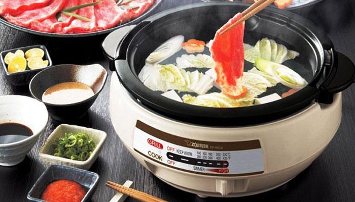 Nồi lẩu điện liền có nhiều tính năng nấu nướng tiện ích