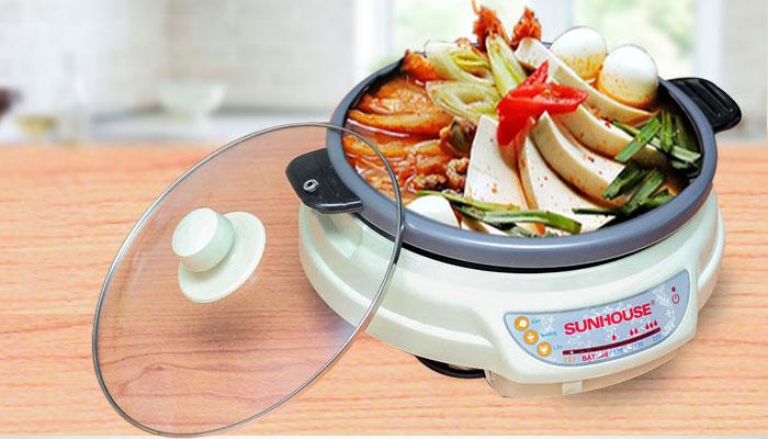 Nồi lẩu điện của thương hiệu uy tín sẽ đảm bảo về chất lượng nấu nướng