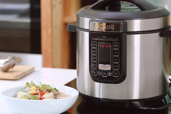 Thiết kế nồi áp suất Philips tiện lợi, giúp bạn dễ dàng vệ sinh sản phẩm