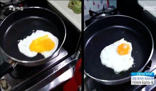 Thử chiên trứng trên chảo chống dính