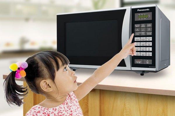 Lò vi sóng Panasonic có thể khóa bảng điều khiển bảo vệ an toàn cho con trẻ
