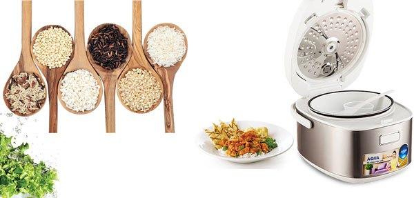Nấu được nhiều món hơn với nồi cơm điện Aqua