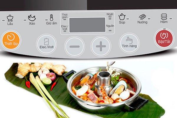 Nấu ăn đa dạng với bếp điện từ