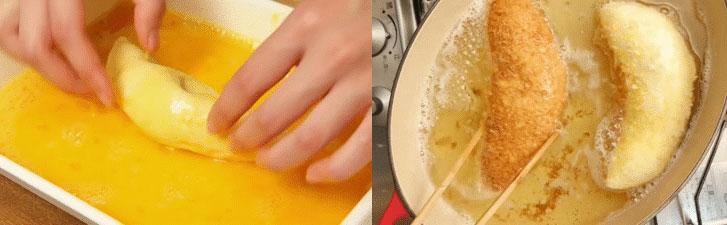Chiên bánh cà ri cho giòn