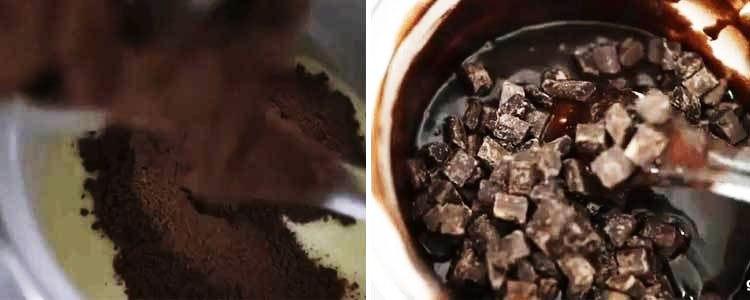 Cho socola đen vào làm Milo Cube