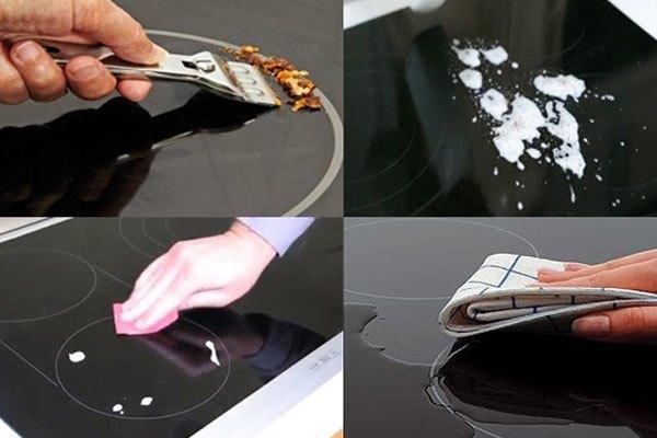 Khi vệ sinh, bạn nên nhẹ tay với bếp điện từ đôi