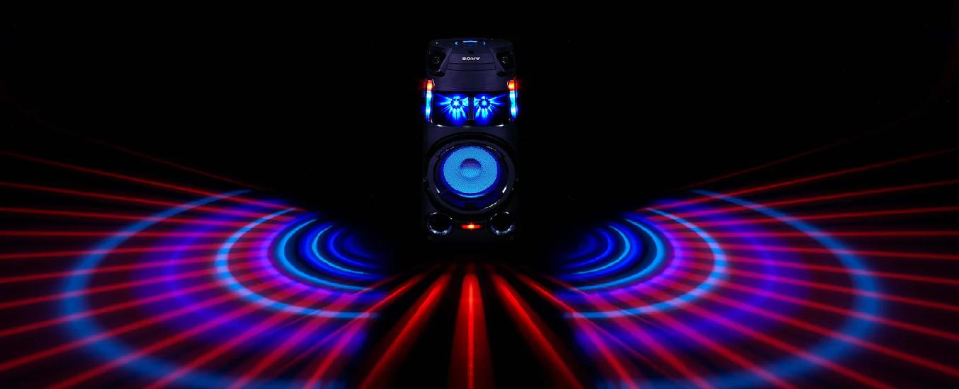 Dàn âm thanh Hifi Sony MHC-V43D M SP6 - Thắp sáng màn đêm