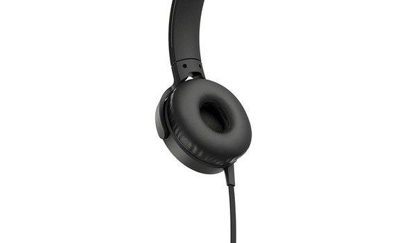 Tai nghe Sony - MDRXB550APBCE màu đen đệm tai vừa vặn, êm ái