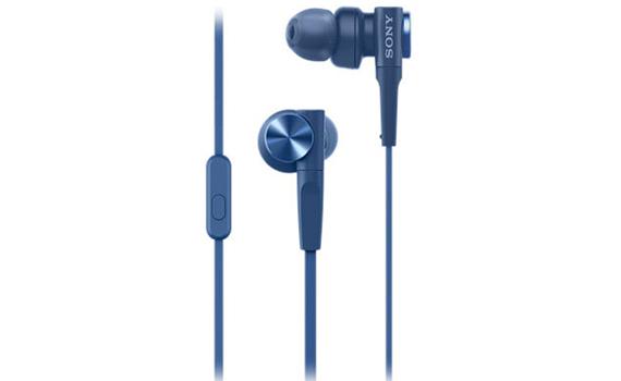 Tai nghe Sony MDRXB55AP màu xanh dương màng loa cực nhạy