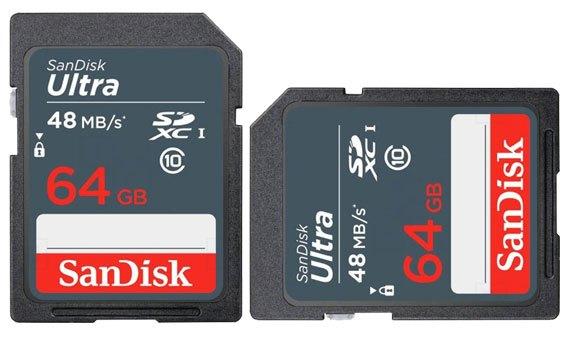 Thẻ nhớ Sandisk 64GB SDXC Ultra C10 thiết kế nhỏ gọn