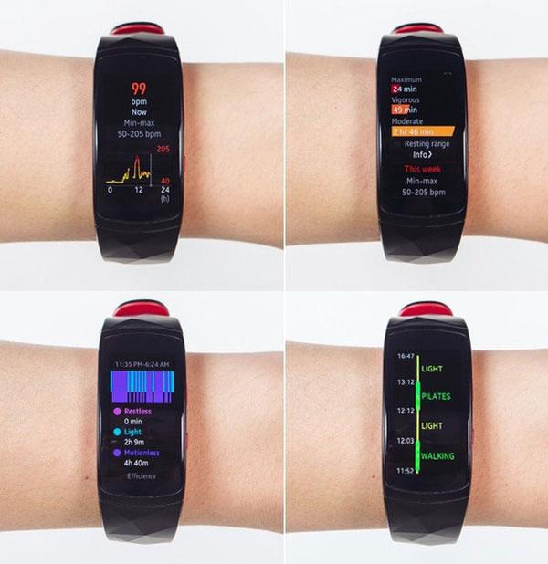 Thiết bị cũng đo lường nhịp tim liên tục trong suốt cả ngày