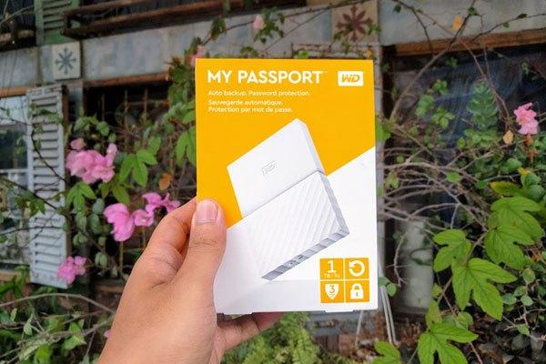 Sử dụng ố cứngWD Passport Portable Storage 1TB để sao lưu giữ liệu