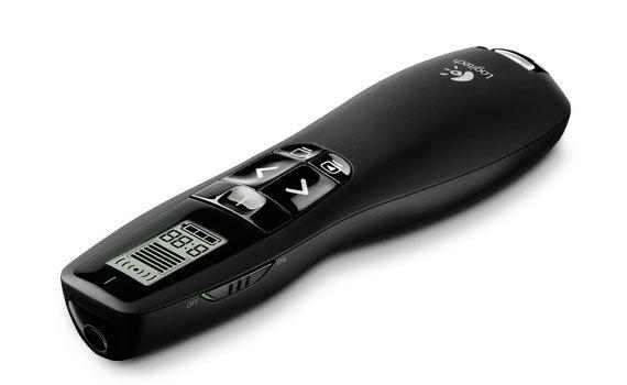 Bút trình chiếu Logitech R800 có kích thước nhỏ gọn, dễ dàng mang theo