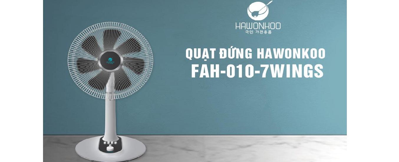 Quạt điện Hawonkoo FAH-010-7WINGS - Thiết kế nhỏ gọn, hiện đại phù hợp với nhiều không gian nội thất