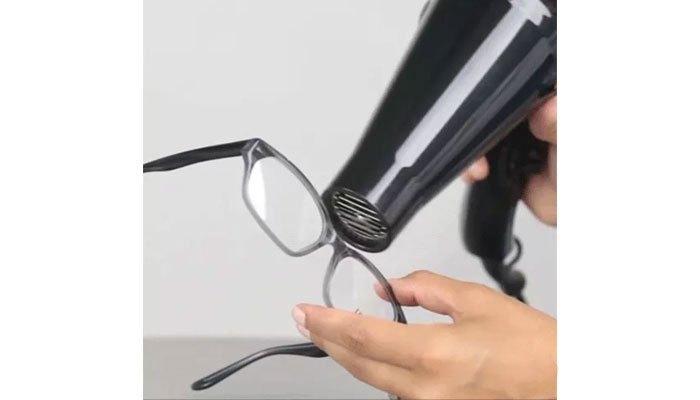 Xử lý mắt kính bị lệch với máy sấy