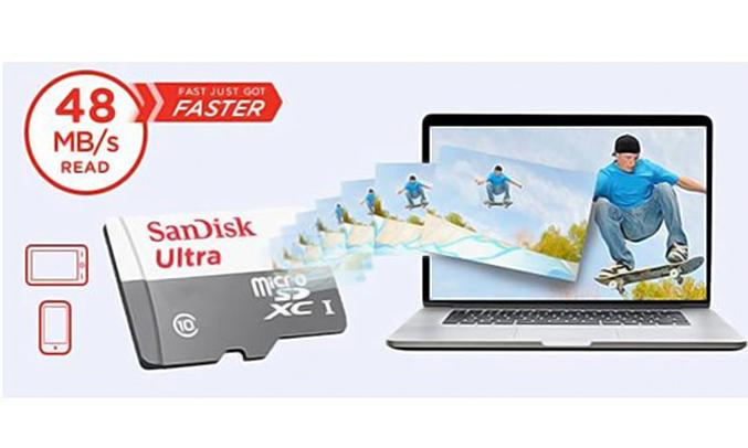 Thẻ nhớ MicroSD Sandisk Micro SDHC 16GB đọc dữ liệu nhanh