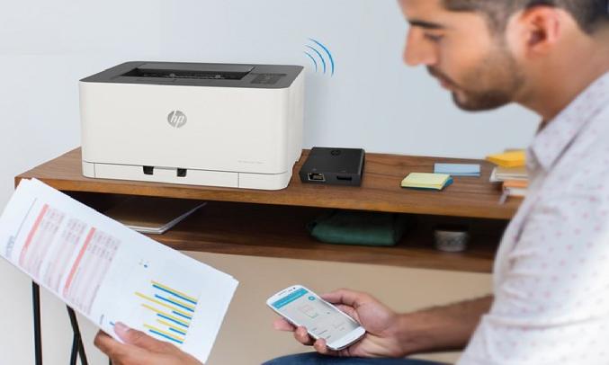 Máy in màu HP Color Laser 150nw 4ZB95A - Điều khiển bằng HP Smart