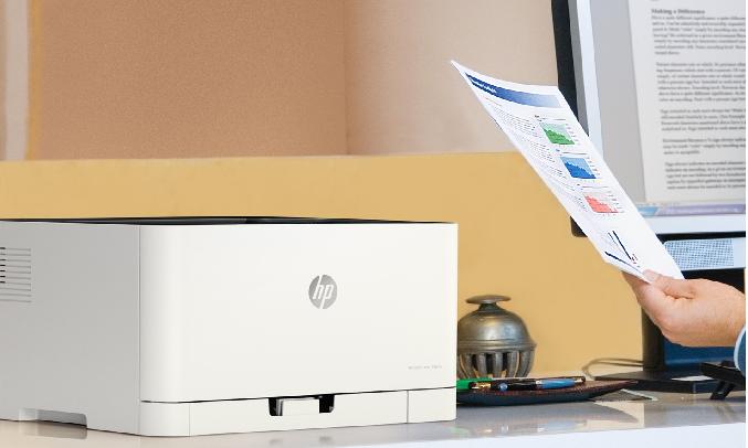 Máy in màu HP Color Laser 150a 4ZB94A Tốc độ in nhanh 18 trang/phút