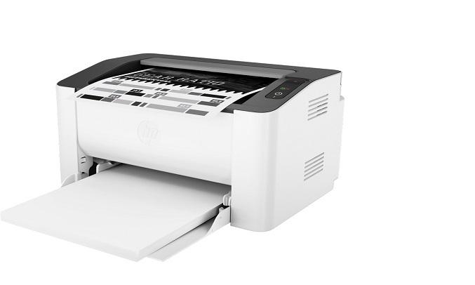 Máy in laser trắng đen HP 107A-4ZB77A - Khay đựng giấy lớn