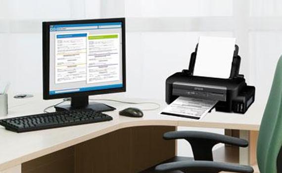 Máy in phun Epson M100 kết nối rộng rãi