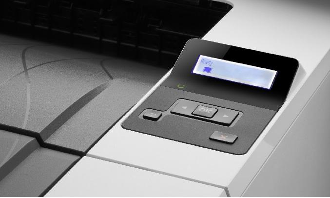 Máy in laser trắng đen HP M404DN - Màn hình LCD 2 dòng