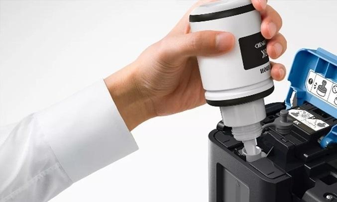 Máy in phun màu đa năng Canon Pixma G2010 - Bình mực được thiết kế chống tràn