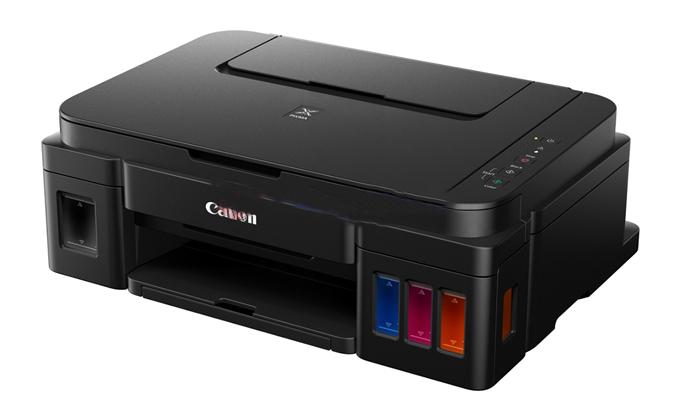 Máy in phun Canon Pixma G2000 có khay đựng giấy 150 tờ