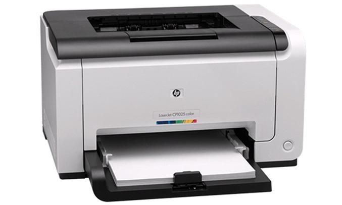 Máy in laser HP LaserJet Pro CP1025 gọn nhẹ